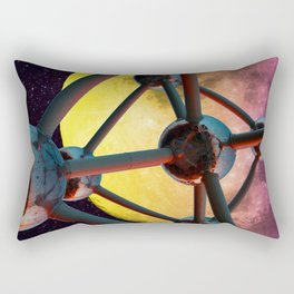 Atomium in space Rectangular Pillow