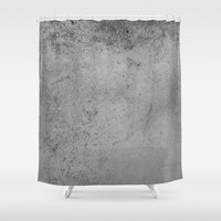 concrete Shower Curtains featuring Concrete by Coconuts & Shrimps