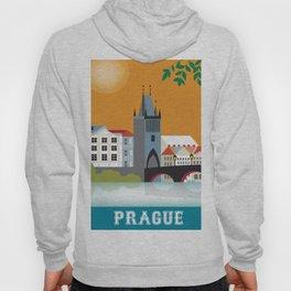 Prague, Czech Republic - Skyline Illustration by Loose Petals Hoody