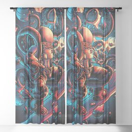 Lost in Space Sheer Curtain