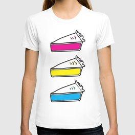 3 Pies - CMYK/White T-shirt