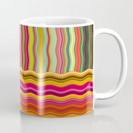 Wavy Squares Coffee Mug