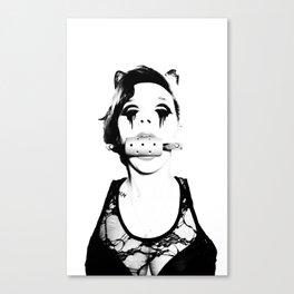 Gagged Canvas Print
