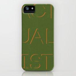 Actualist iPhone Case