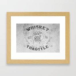 Whiskey Throttle  Framed Art Print