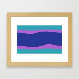 Wave Stripe  Classic Aqua Blue Purple Framed Art Print
