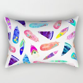 Candy Feather Pattern Rectangular Pillow