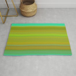 turquoise and green horizontal l Rug