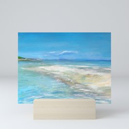 Beach in Salerno Mini Art Print