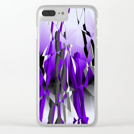 go violet -19- Clear iPhone Case