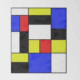 Mondrian #20 Throw Blanket