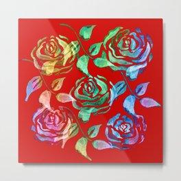 Roses Pattern ZZ Metal Print