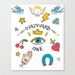 Wayward One - Old School Tattoo Flash Art Canvas Print