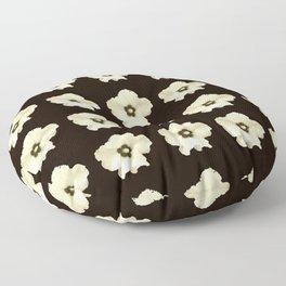 Sepia flower -bloom,blossom,petal,floral,leaves,flor,garden,nature,plant. Floor Pillow
