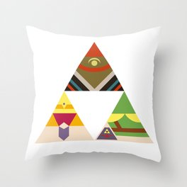 The Legend of Zelda: Legend of the Triforce Throw Pillow