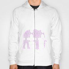 Animals Illustration - Purple Damask elephant Hoody