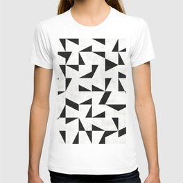 Mid-Century Modern Pattern No.11 - Black and White T-shirt