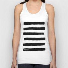 black paint stripes Unisex Tank Top
