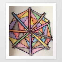Color pencils  pallet play Art Print