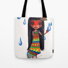 A menina que chovia Tote Bag