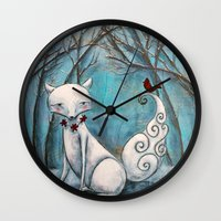 bianca Wall Clocks featuring Bianca by Allison Weeks Thomas
