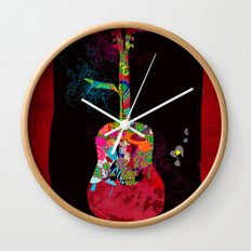 graphic guitar Wall Clock