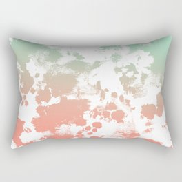Abstract minimal ombre fade painted trendy modern color palette Rectangular Pillow