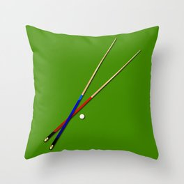 Snooker Cues Throw Pillow