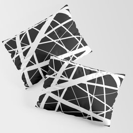 Entrapment - Black and white Abstract Pillow Sham