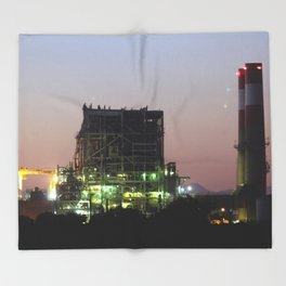 Power Station Lights Throw Blanket