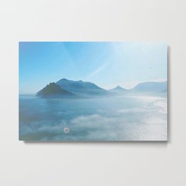 Mountains and ocean Metal Print