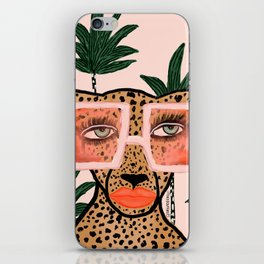 Tropical Glam Cat iPhone Skin