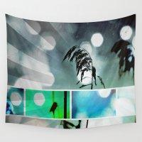 postcard Wall Tapestries featuring Silver Grass Postcard Art by minx267