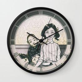 Japanese Dolls - Line Wall Clock