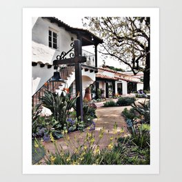 Laguna Beach County Water District Building with Bell in Front Garden Art Print