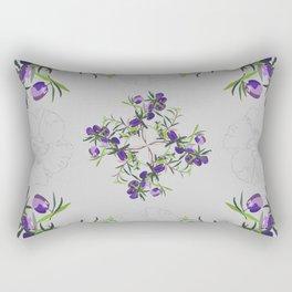 2941-AppleberryDesertRose Grey Rectangular Pillow