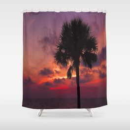 Romantic Breezy Sunset Shower Curtain