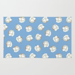 Cotton Blossom Toss in Carolina Blue Rug