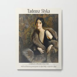 Vintage poster-Tadeusz Styka (French-Polish, 1889-1954) A portrait of Beatrice Hahn Troy. Metal Print