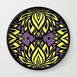 Waterlilies(purple background) Wall Clock