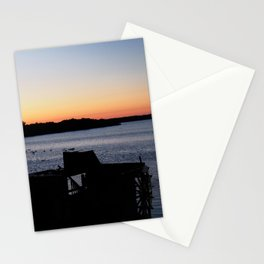paddleboat at twilight Stationery Cards