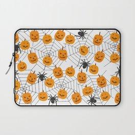 Halloween Pattern Spider Pumpkin Laptop Sleeve