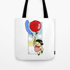 Flying balloon Tote Bag