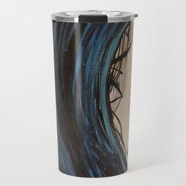 My Mermaid. Original Painting by Jodilynpaintings. Figurative Abstract Pop Art. Travel Mug