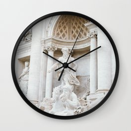 Italy Photography - Beautiful Italian Statues Wall Clock