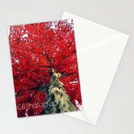 RedAutumnLeaves Stationery Cards