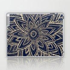 Cute Retro Gold abstract Flower Drawing  geometric Laptop & iPad Skin