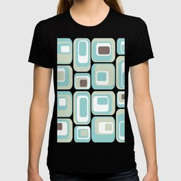 Retro Rectangles Mid Century Modern Geometric Vintage Style T-shirt