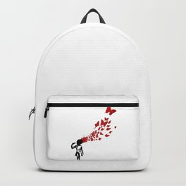 BANKSY Butterfly Suicide Girl Backpack