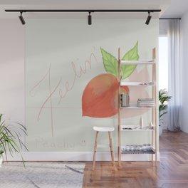 Feeling peachy Wall Mural